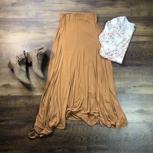 Flowy Maxi Skirt, Caramel Color, Medium